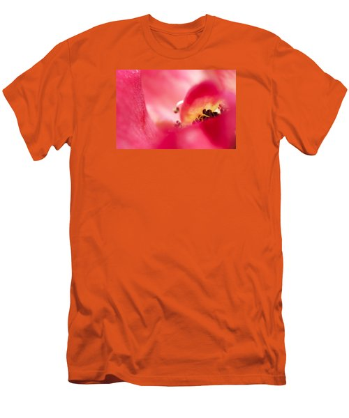 Men's T-Shirt (Slim Fit) featuring the photograph Pink Blossom 3 by Dubi Roman