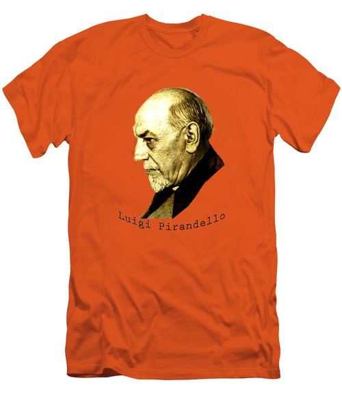 Men's T-Shirt (Slim Fit) featuring the digital art Pirandello by Asok Mukhopadhyay