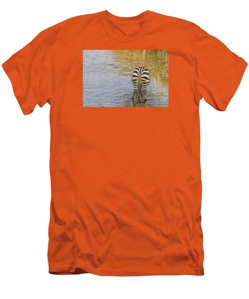 Plains Zebra Men's T-Shirt (Slim Fit) by Kathy Adams Clark