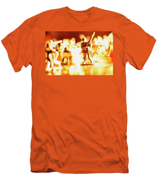 Men's T-Shirt (Slim Fit) featuring the photograph Plastic Army Men 1 by Micah May