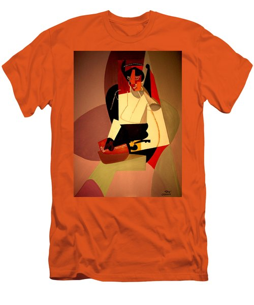 Playing The Mandolin Men's T-Shirt (Slim Fit) by Bill OConnor