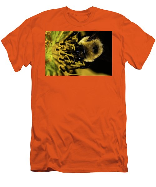 Men's T-Shirt (Slim Fit) featuring the photograph Pollen Collector 2 by Jay Stockhaus