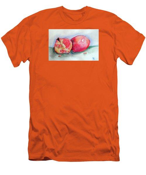 Pomegranates Men's T-Shirt (Slim Fit) by Loretta Nash