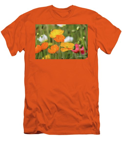 Men's T-Shirt (Slim Fit) featuring the photograph  Poppies 1 by Werner Padarin