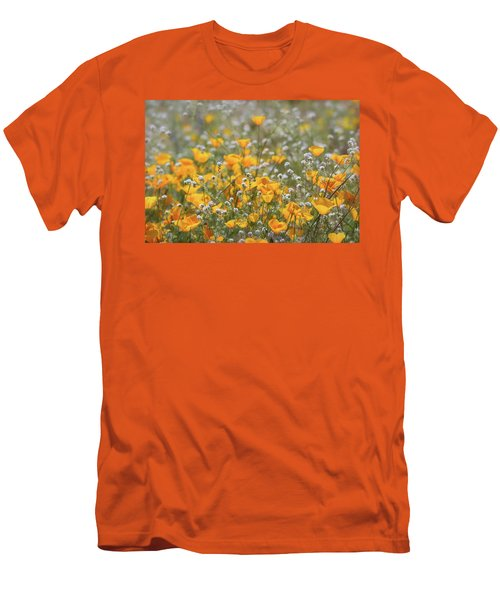 Men's T-Shirt (Slim Fit) featuring the photograph Poppies Fields Forever  by Saija Lehtonen