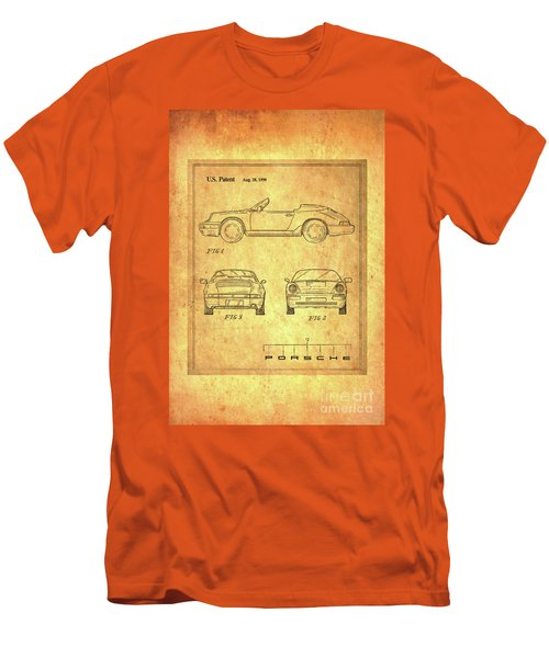 Porsche Blueprint Men's T-Shirt (Athletic Fit)