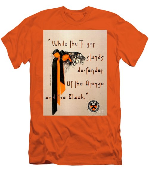 Men's T-Shirt (Slim Fit) featuring the painting Poster - Princeton Tigers by Pg Reproductions