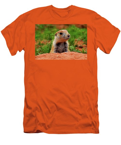 Men's T-Shirt (Slim Fit) featuring the photograph Prairie Dogs 007 by George Bostian