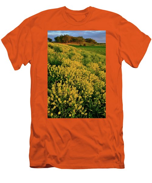 Prairie Of Wildflowers At Glacial Park Men's T-Shirt (Athletic Fit)
