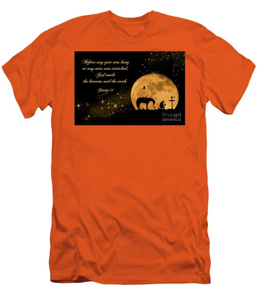 Men's T-Shirt (Slim Fit) featuring the photograph Prayer Of A Cowboy by Bonnie Barry
