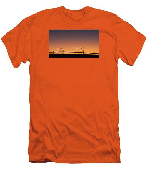 Pre-dawn Orange Sky Men's T-Shirt (Athletic Fit)