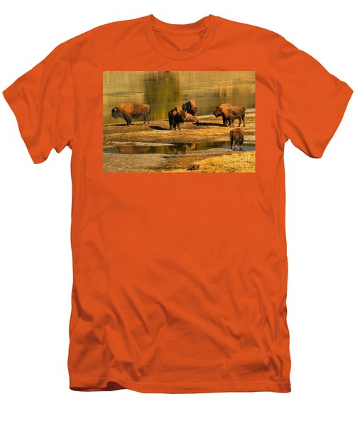 Men's T-Shirt (Slim Fit) featuring the photograph Preparing To Cross The Yellowstone River by Adam Jewell