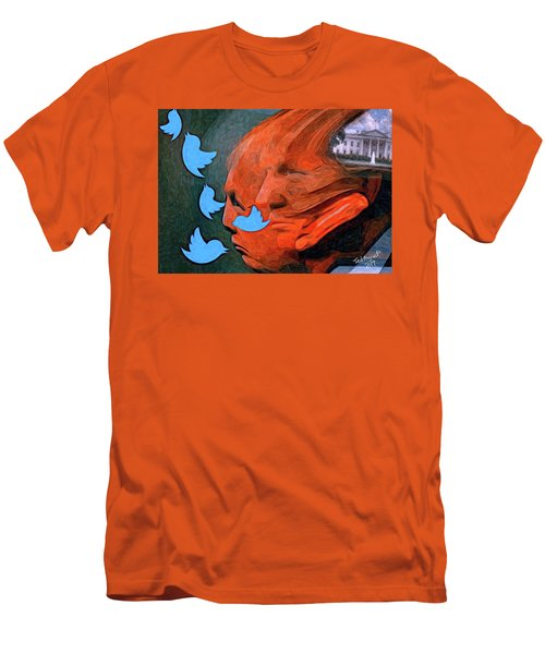 President Of Twitter Men's T-Shirt (Slim Fit) by Ted Azriel
