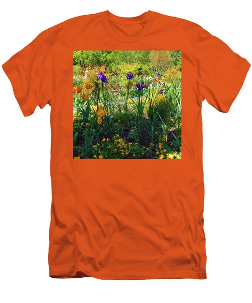 Pretty Flowers Men's T-Shirt (Slim Fit) by Kay Gilley