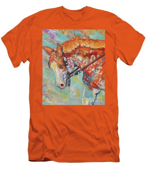 Men's T-Shirt (Slim Fit) featuring the painting Pretty Paint by Jenn Cunningham