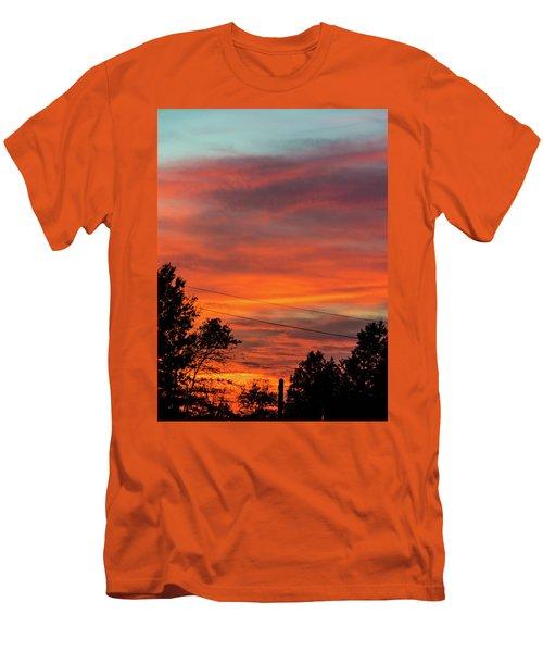 Princeton Junction Sunset Men's T-Shirt (Slim Fit) by Steven Richman