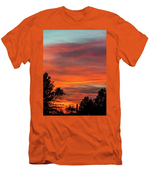 Princeton Junction Sunset Men's T-Shirt (Athletic Fit)