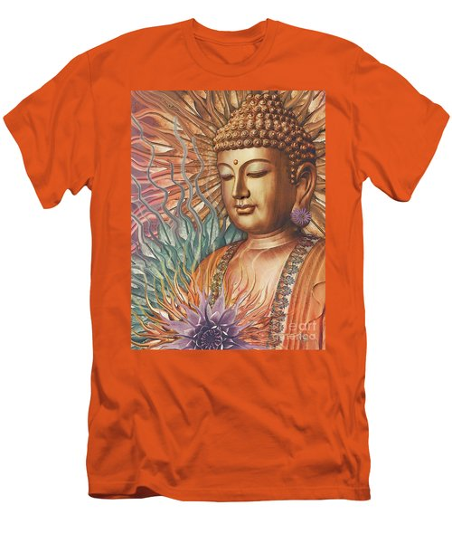 Proliferation Of Peace - Buddha Art By Christopher Beikmann Men's T-Shirt (Athletic Fit)