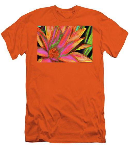 Men's T-Shirt (Athletic Fit) featuring the photograph Psychedelic Daisy By Kaye Menner by Kaye Menner
