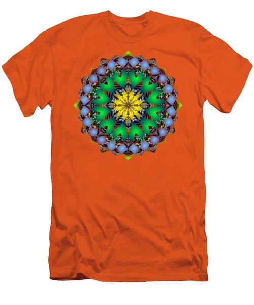 Psychedelic Mandala 003 A Men's T-Shirt (Slim Fit) by Larry Capra