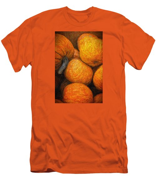 Men's T-Shirt (Slim Fit) featuring the photograph Pumpkins In A Box by Tom Singleton