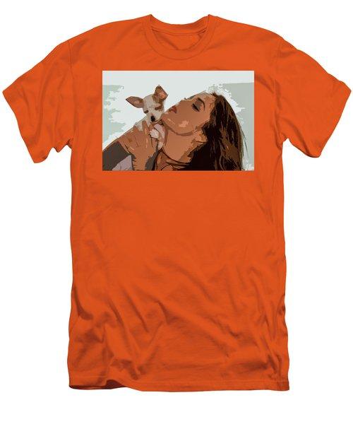 Puppy Love Men's T-Shirt (Slim Fit) by Josy Cue