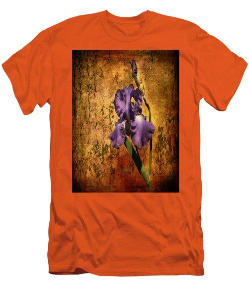 Purple Iris At Sunset Men's T-Shirt (Slim Fit) by Bellesouth Studio