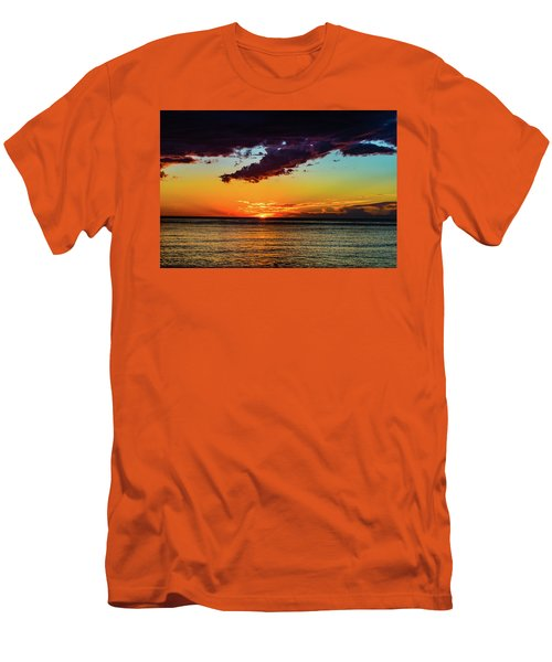 Purple Paints The Orange Men's T-Shirt (Athletic Fit)