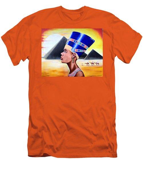 Queen Nefertiti Men's T-Shirt (Athletic Fit)