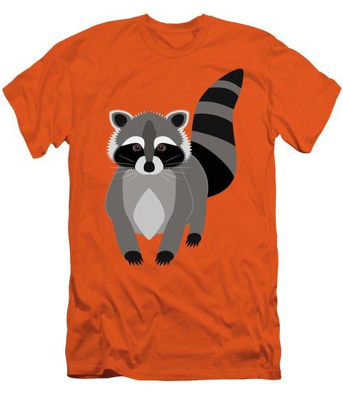 Raccoon Mischief Men's T-Shirt (Slim Fit) by Antique Images