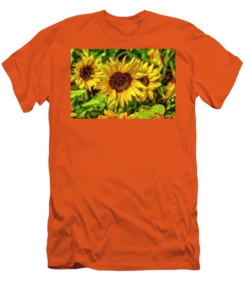 Radiate Love To The World Men's T-Shirt (Athletic Fit)