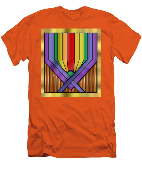 Men's T-Shirt (Slim Fit) featuring the digital art Rainbow Base Transparent by Chuck Staley