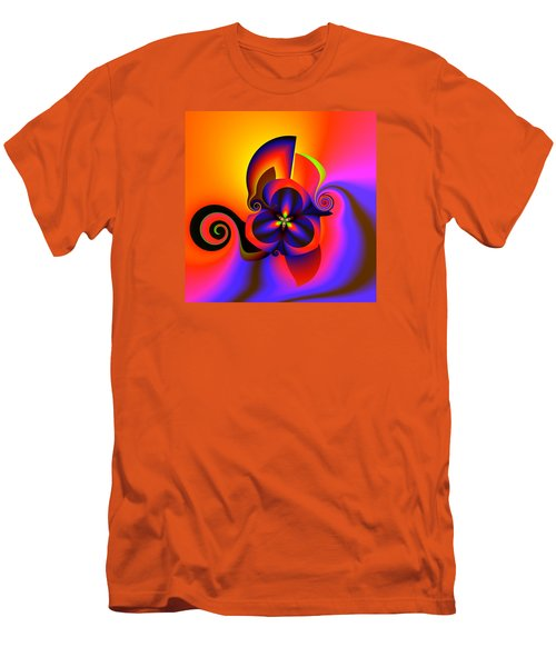 Rainbow Infusion Men's T-Shirt (Slim Fit) by Claude McCoy