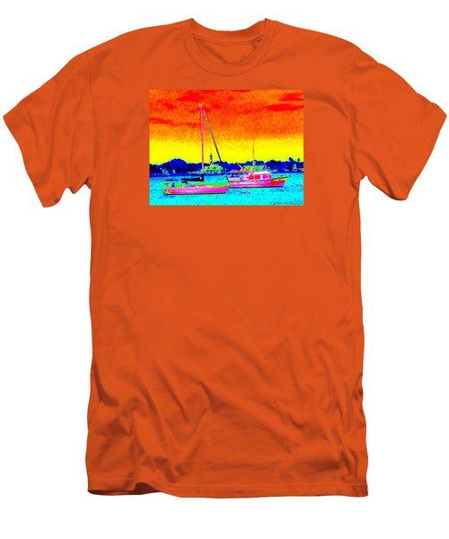Rainbow Tide Men's T-Shirt (Athletic Fit)