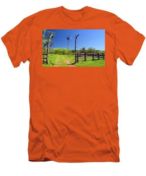Ranch At Click Gap II Men's T-Shirt (Slim Fit) by Greg Reed