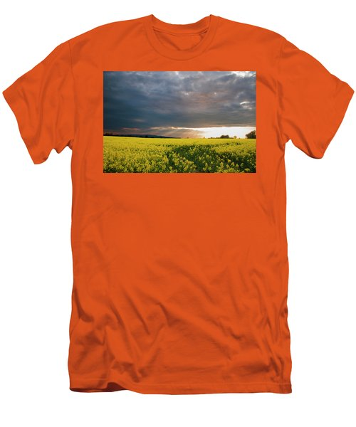 Men's T-Shirt (Slim Fit) featuring the photograph Rays At Sunset by Rob Hemphill