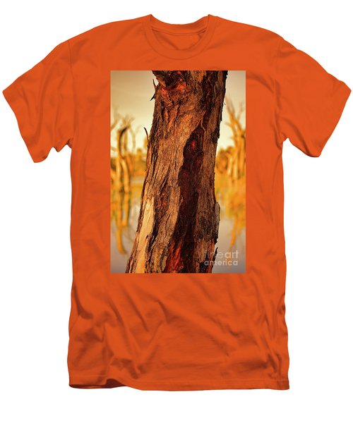 Red Bark Men's T-Shirt (Slim Fit) by Douglas Barnard