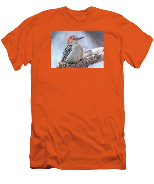 Red-bellied Woodpecker Men's T-Shirt (Slim Fit) by Patti Deters
