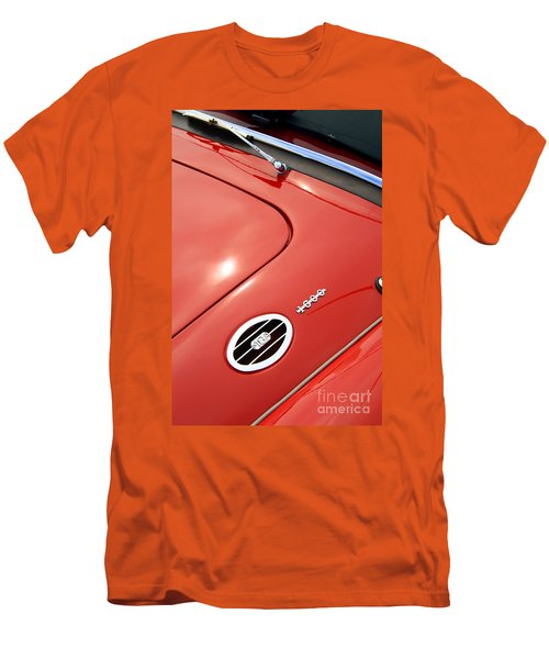 Men's T-Shirt (Athletic Fit) featuring the photograph Red Bonnett by Stephen Mitchell