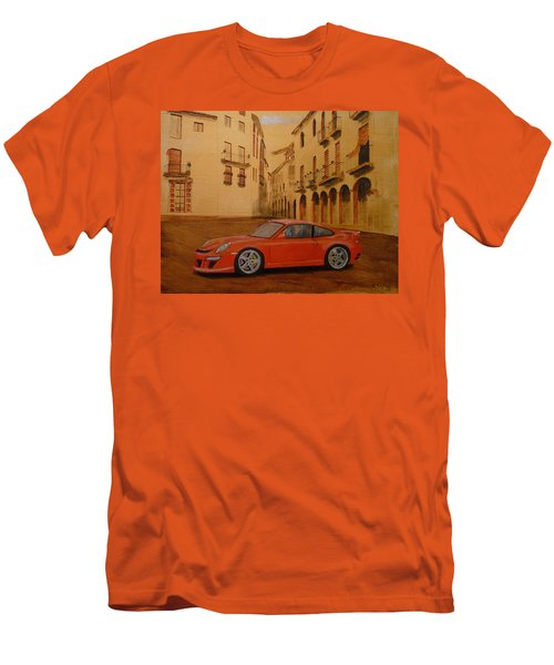 Red Gt3 Porsche Men's T-Shirt (Athletic Fit)
