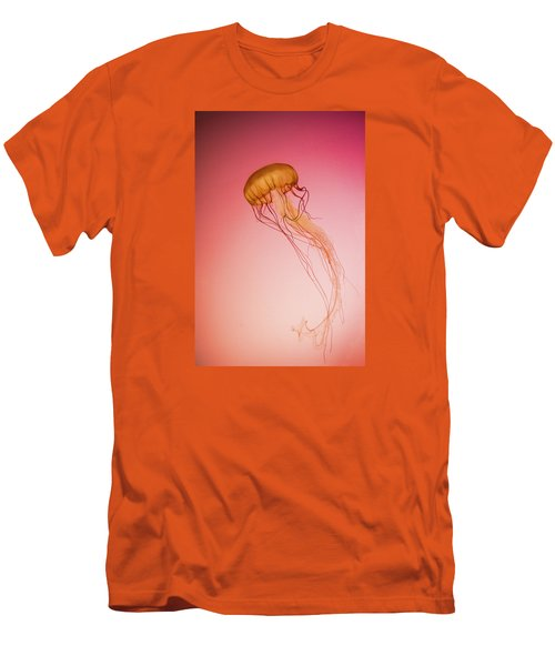 Red Jellyfish Men's T-Shirt (Athletic Fit)