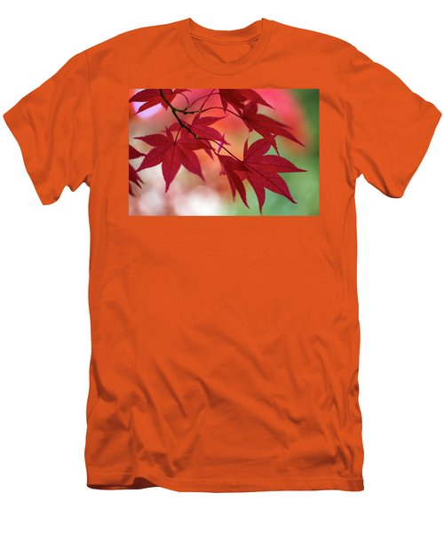 Men's T-Shirt (Athletic Fit) featuring the photograph Red Leaves by Clare Bambers
