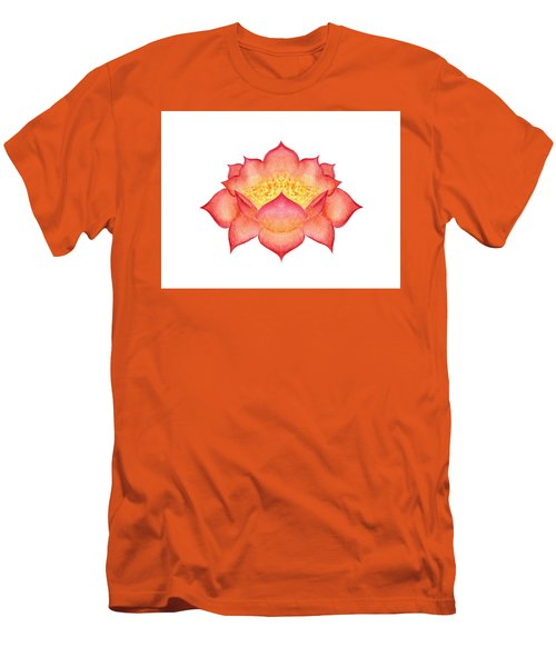 Men's T-Shirt (Athletic Fit) featuring the painting Red Lotus by Elizabeth Lock