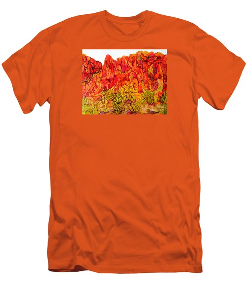 Red Rock Canyon Veiw From The Loop Men's T-Shirt (Slim Fit) by Vicki  Housel