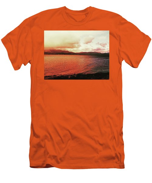 Red Sky After Storms  Men's T-Shirt (Athletic Fit)