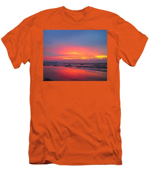 Red Sky At Morning Men's T-Shirt (Slim Fit) by Betty Buller Whitehead