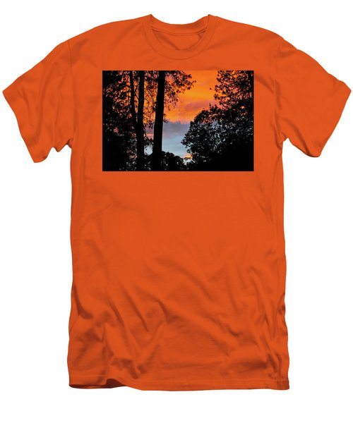 Men's T-Shirt (Athletic Fit) featuring the photograph Red Sky At Night by Michele Myers