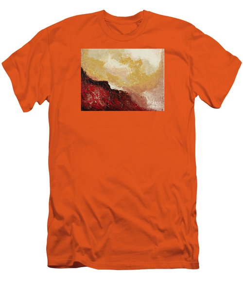 Red Waves Men's T-Shirt (Athletic Fit)
