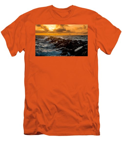 Redondo Beach Sunset Men's T-Shirt (Slim Fit) by Ed Clark