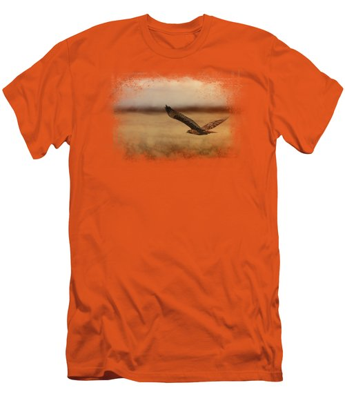 Redtail In The Field Men's T-Shirt (Slim Fit) by Jai Johnson